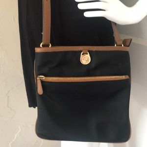 Michael Kors Kempton Crossbody Nylon Black Bag